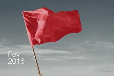 Bandeira vermelha para fevereiro de 2016