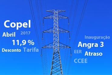 Copel terá desconto de 11,9% em tarifas