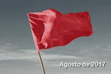 Agosto terá bandeira vermelha