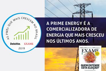 Prime Energy é a comercializadora de energia que mais cresceu desde 2015
