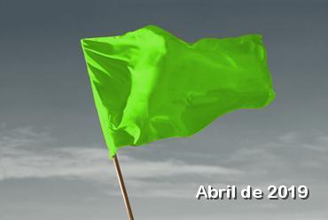 Bandeira verde em abril