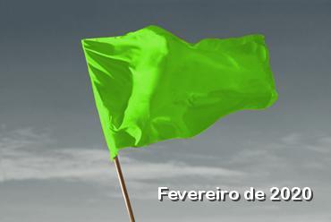 Bandeira tarifária verde para fevereiro 2020